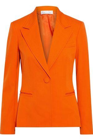 Oscar de la Renta Woman Wool-blend Twill Blazer Bright Size 10