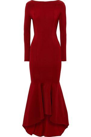 ALEXANDRE VAUTHIER Woman Fluted Stretch-ponte Midi Dress Crimson Size M