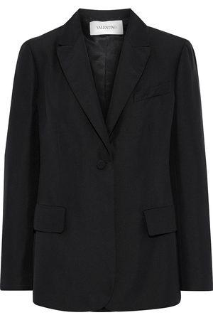 VALENTINO Woman Silk-crepe Blazer Size 6