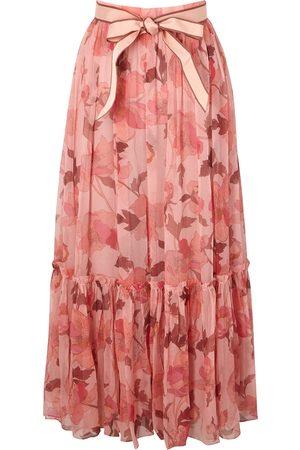Zimmermann Concert floral-print silk-chiffon maxi skirt