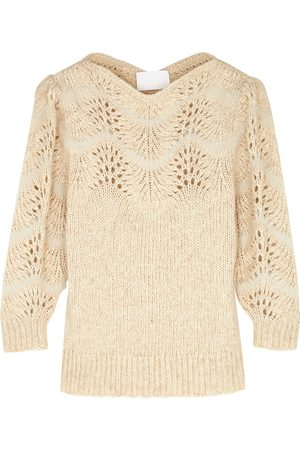 MERLETTE Women Sweaters - Philemon blush pointelle-knit jumper