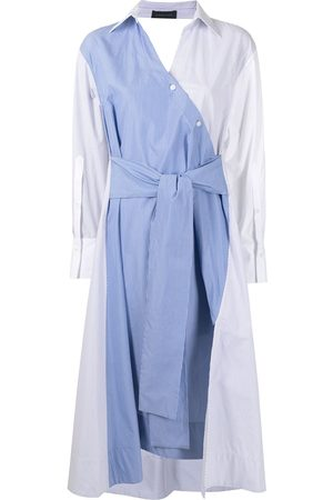 EUDON CHOI Women Casual Dresses - Multi-panel design shirt dress