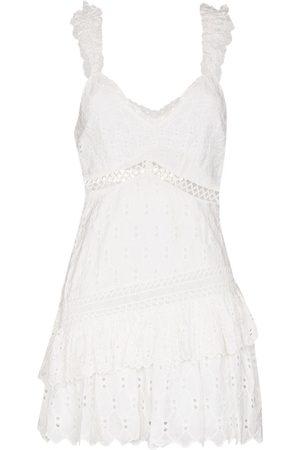 LOVESHACKFANCY Desra embroidered mini dress