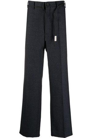 Marni Men Straight Leg Pants - Check-print straight-leg trousers
