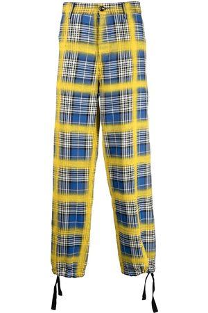 Marni Plaid straight-leg trousers