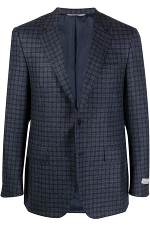 CANALI Men Blazers - Checked wool suit jacket