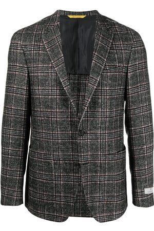 CANALI Men Blazers - Checked wool blazer - Grey