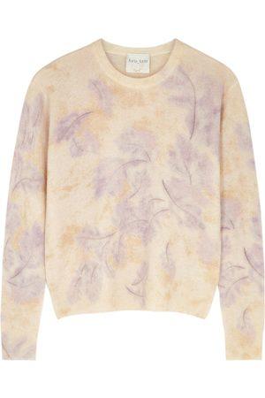 FORTE FORTE Leaf-print wool-blend jumper