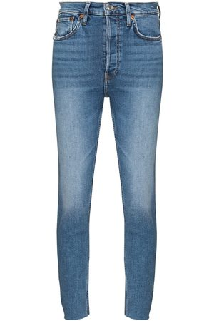 RE/DONE Women High Waisted - 90s High Rise Ankle Crop jeans