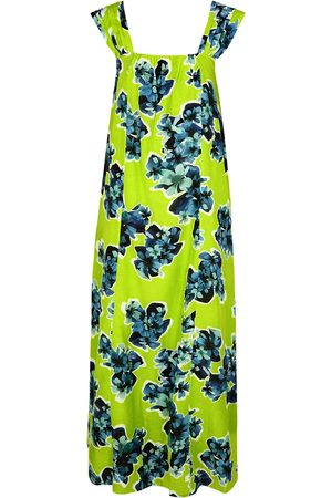 MERLETTE Rossetti floral-print cotton-blend maxi dress