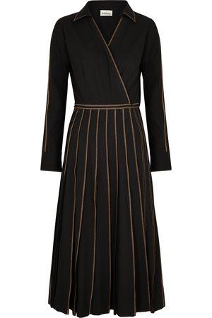 BODICE Women Dresses - Pleated woven wrap dress