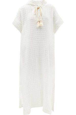 Lisa Marie Fernandez Drawcord Hooded Linen-blend Kaftan - Womens
