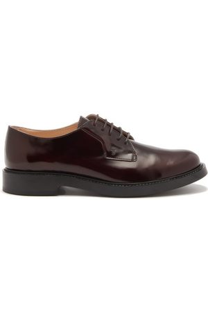 Tod's Leather Derby Shoes - Womens - Burgundy