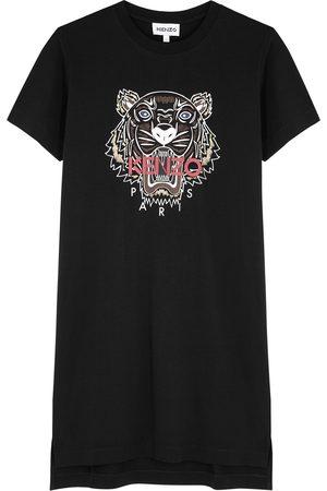 Kenzo Tiger-print cotton T-shirt dress