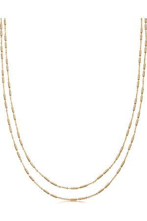 Missoma Vervelle Double Chain 18kt vermeil necklace