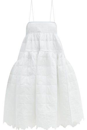 Cecilie Bahnsen Bennette Floral-quilted Cotton Midi Dress - Womens