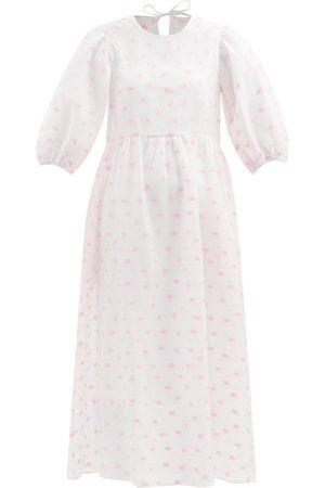 Cecilie Bahnsen Women Printed Dresses - Karmen Tie-back Floral-jacquard Cloqué Dress - Womens - Print