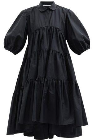 Cecilie Bahnsen Jade Tiered Cotton Shirt Dress - Womens