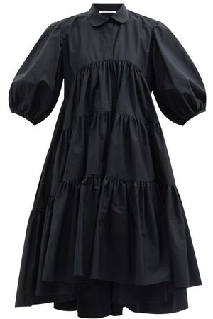 Cecilie Bahnsen Women Casual Dresses - Jade Tiered Cotton Shirt Dress - Womens