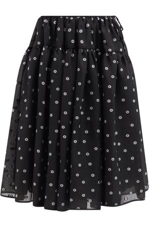 Cecilie Bahnsen Women Printed Skirts - Rosie Tiered Floral-jacquard Midi Skirt - Womens - Print