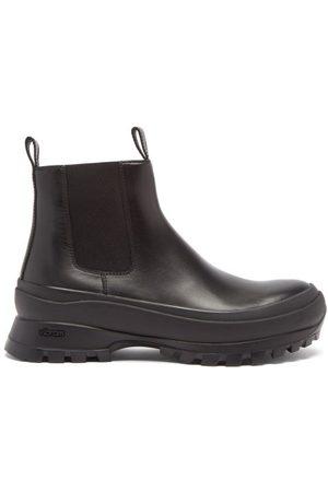 Jil Sander Men Chelsea Boots - Vibram-sole Leather Chelsea Boots - Mens