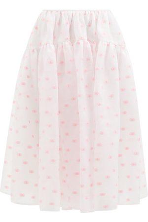 Cecilie Bahnsen Rosie Tiered Floral-jacquard Midi Skirt - Womens - Print