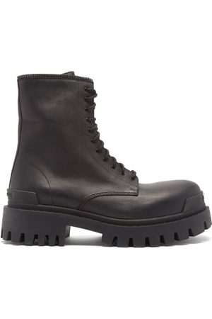 Balenciaga Men Boots - Master Lug-sole Leather Boots - Mens