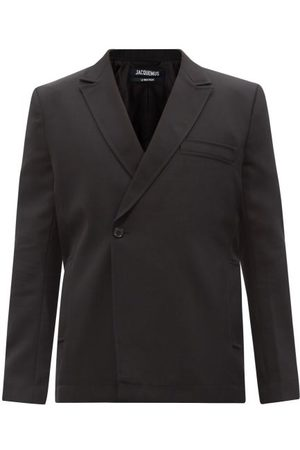 Jacquemus Single-button Double-breasted Wool Blazer - Mens