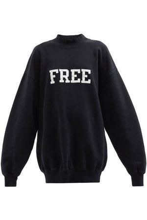 Balenciaga Women Sweatshirts - Free Oversized Cotton-jersey Sweatshirt - Womens - /