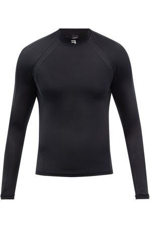 Balenciaga High-neck Logo-print Jersey Performance Top - Mens