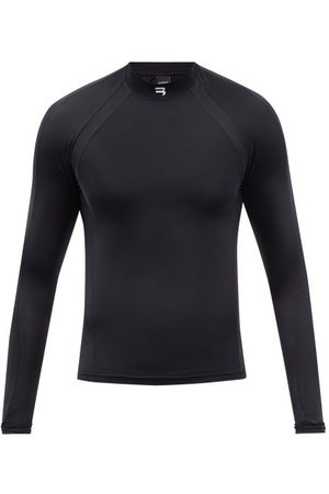 Balenciaga Men High Necks - High-neck Logo-print Jersey Performance Top - Mens