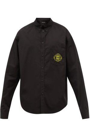 Balenciaga Logo-appliqué Oversized Cotton-poplin Shirt - Mens