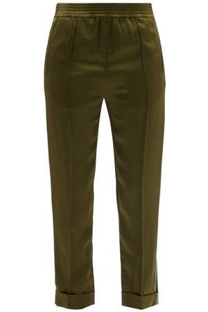 Haider Ackermann Women Sweatpants - Kuiper Satin Pyjama Trousers - Womens - Khaki
