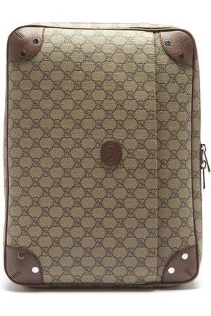 Gucci Men Luggage - Leather-trim Gg Supreme Canvas Briefcase - Mens - Multi