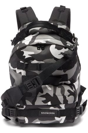 Balenciaga Men Rucksacks - Camouflage-print Backpack - Mens - Multi