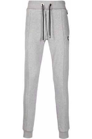 Philipp Plein Logo-patch cotton track pants - Grey