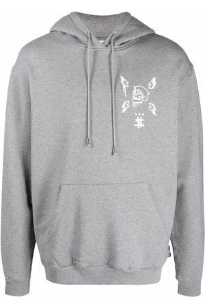 Philipp Plein Hexagon logo-print hoodie - Grey