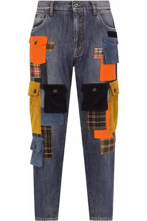 Dolce & Gabbana Patchwork-detail cropped jeans