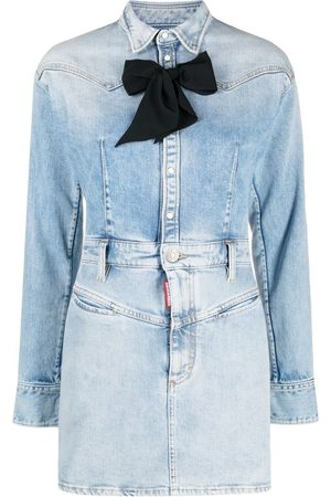 Dsquared2 Women Jeans - Bow-detail denim dress