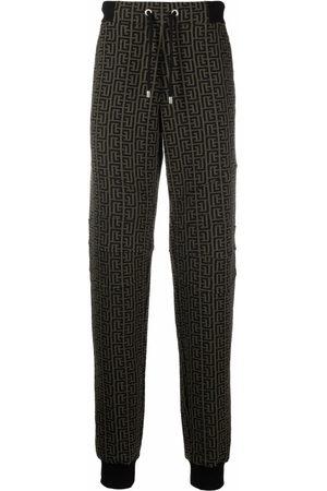 Balmain Men Sweatpants - Monogram-print track pants