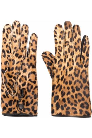 Maison Margiela Leopard-print gloves
