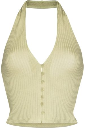 Reformation Pia halterneck knitted top