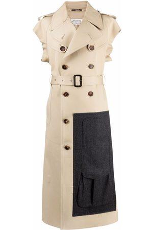 Maison Margiela Women Trench Coats - Sleeveless trench coat - Neutrals