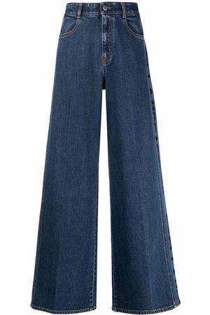 Stella McCartney Women Wide Leg - Logo-print wide-leg jeans