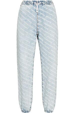 Alexander Wang Women High Waisted - Wide leg jean jogging trousers