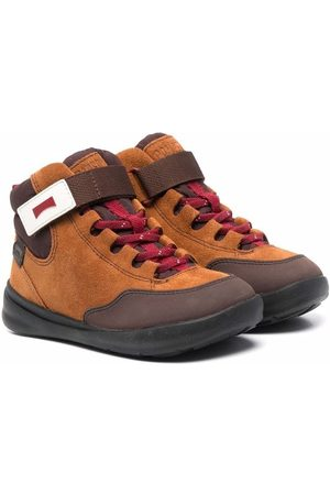 Camper Kids Suede panelled ankle boots
