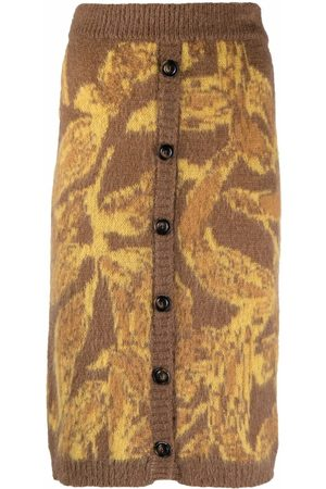 Pinko Women Printed Skirts - Abstract-pattern knitted skirt