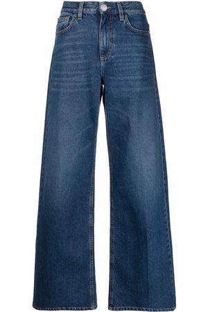 Pinko Women High Waisted - High-rise wide-leg jeans