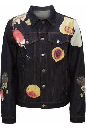 J.W.Anderson Men Denim Jackets - Veggie-print denim jacket