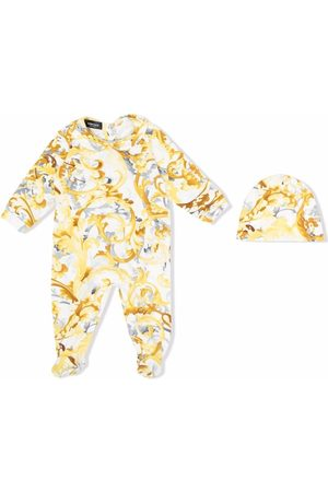 VERSACE Bodysuits & All-In-Ones - Baroccoflage-print babygrow and hat set